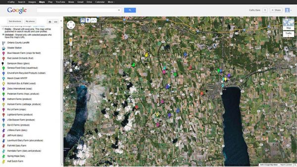 Google map of various Casella Waste locations