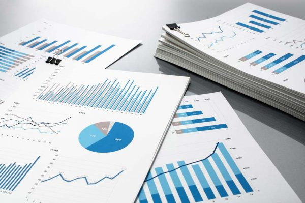 Reports with various types of graphs